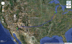 Chicago to AZ Map