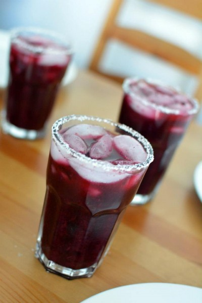 Roasted Blueberry Margaritas