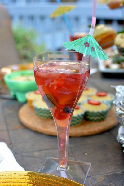 Pink Moscato Sangria